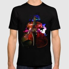violin nebula Mens Fitted Tee Black SMALL