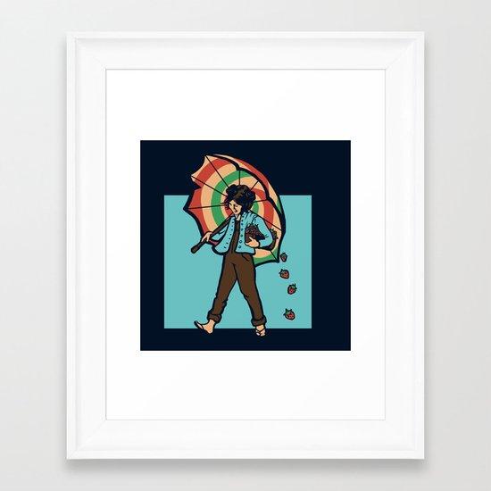 Strawberry Girl Framed Art Print