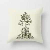 Music Tree Throw Pillow