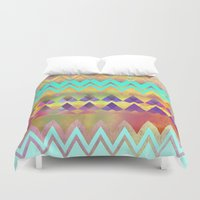 Lacy Camping Dreams  Duvet Cover