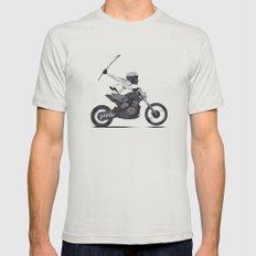 Guerilla Biker Mens Fitted Tee Silver SMALL