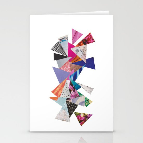 Triangles Stationery Card