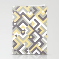 Yellow & Khaki Stationery Cards