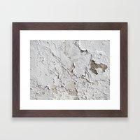 White Chipped Paint Framed Art Print