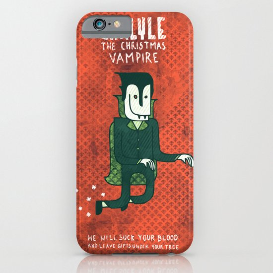 The Christmas Vampire iPhone & iPod Case
