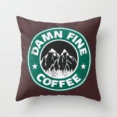 Damn Fine Coffee Throw Pillow