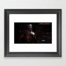 New God of War Framed Art Print