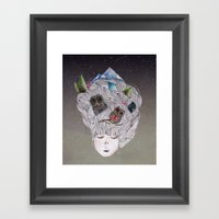 There Are Night-times In… Framed Art Print