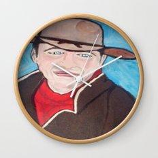 Young John Wayne Wall Clock