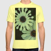 Purple And White Mens Fitted Tee Lemon SMALL