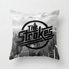The Strokes Logo New Yor… Throw Pillow