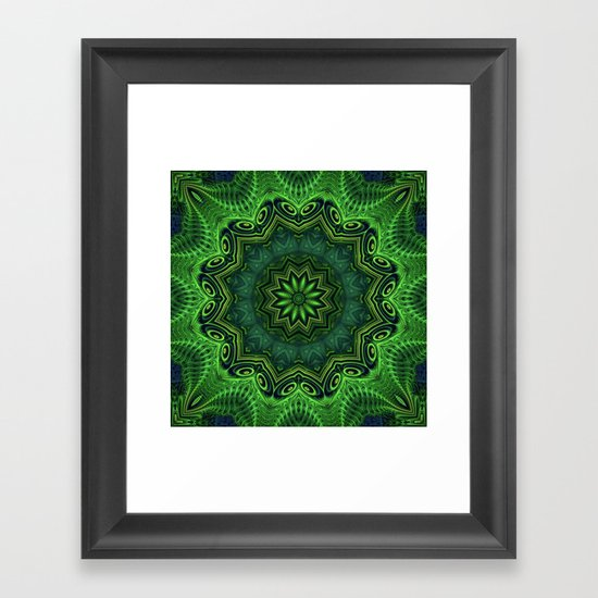 Harmony In Green Framed Art Print By Lyle Hatch Society6