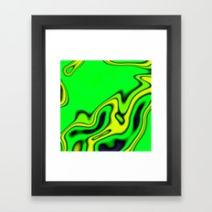 Green Yellow and blue abstract Framed Art Print