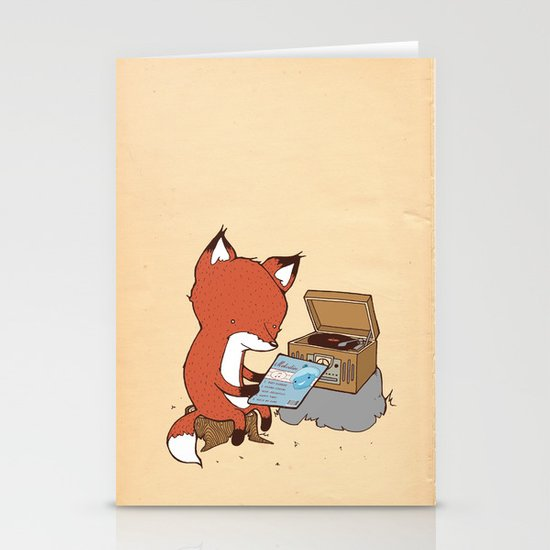 Record Player Stationery Card