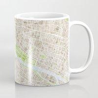 Paris SGB Watercolor Map Mug