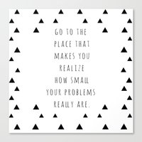 Small Problems Canvas Print