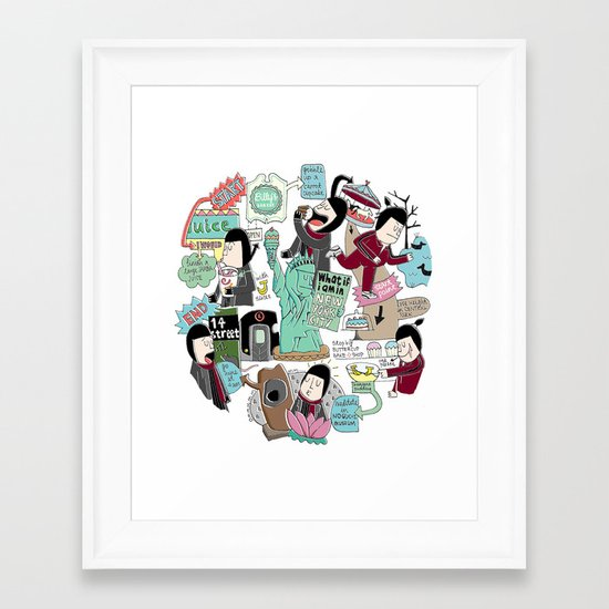 What if I am in New York City? Framed Art Print