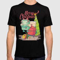 Adventure Christmas Time Mens Fitted Tee Black SMALL