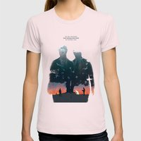 True Detective - The Lon… Womens Fitted Tee Light Pink SMALL