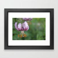 Flowery purple single taste Framed Art Print