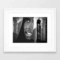 Daydreaming In The City Framed Art Print
