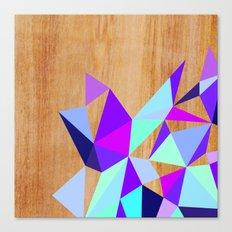Wooden Geo Purple Canvas Print