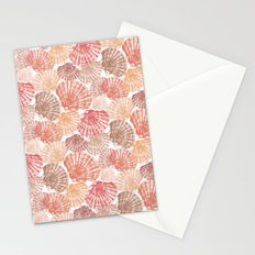 Mid Shells: Pink corals Stationery Cards