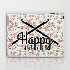 funny crochet vintage floral happy hooker Laptop & iPad Skin