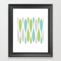 Colorwaves Spring Framed Art Print