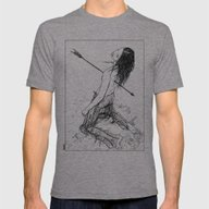 Apollonia Saintclair - 2… Mens Fitted Tee Tri-Grey SMALL