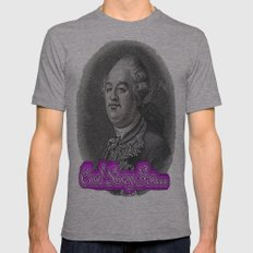 Cool Story King Louis XVI Mens Fitted Tee Athletic Grey SMALL