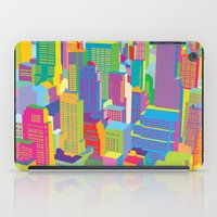 Cityscape windows iPad Case
