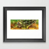 Alligator Snapping Turtl… Framed Art Print
