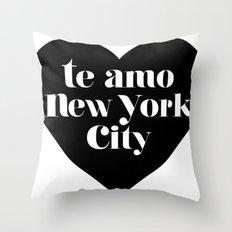 te amo nyc heart Throw Pillow