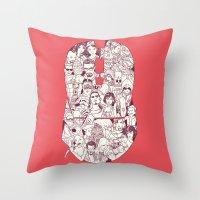 Adulthood Mash-Up Throw Pillow