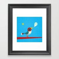 O Passarinho Colorido Vr… Framed Art Print