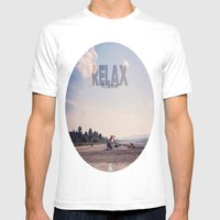 Relax It's Summer Mens Fitted Tee White SMALL