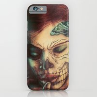 iPhone & iPod Case featuring Skull Girl by Ricardo Ajcivinac