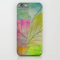 Pattern Of Colorful Leav… iPhone 6 Slim Case