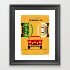 No279 My The Italian Job minimal movie poster Framed Art Print