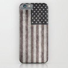 American flag - retro style desaturated look iPhone 6s Slim Case