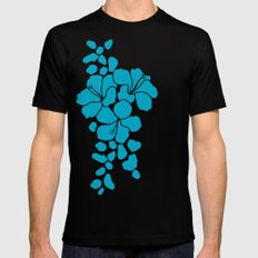 Hibiscus Animal: Caribbean Blue Mens Fitted Tee Black SMALL