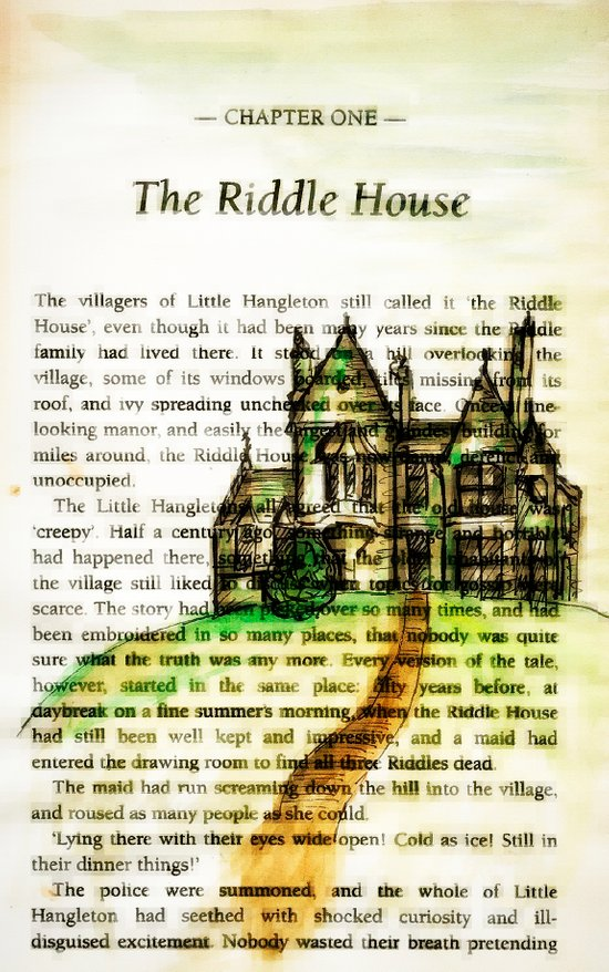 The Riddle House Art Print