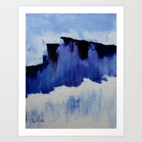 Cold Blue Art Print