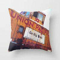 the union pacific caboose Throw Pillow