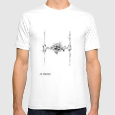 Star Wars Vehicle Tie Fi… Mens Fitted Tee White SMALL