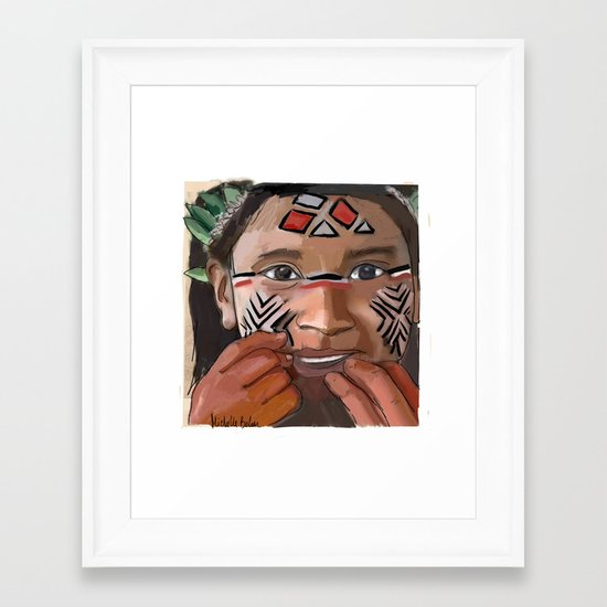 Karaja girl Framed Art Print