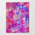 Electric Palms - Pink Canvas Print