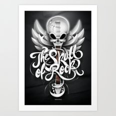 The Skull of Rock! Art Print