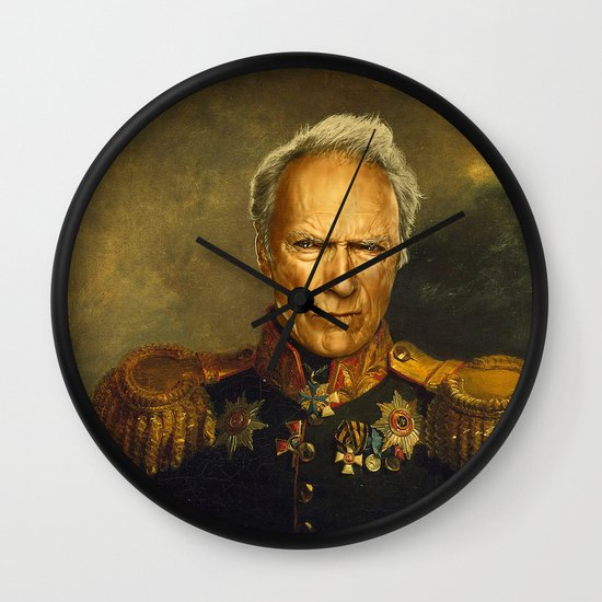 Clint Eastwood - replaceface Wall Clock